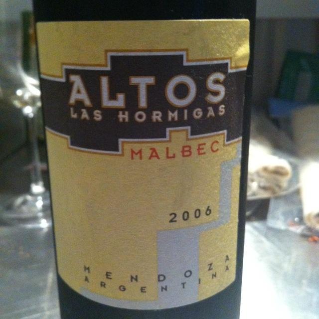 Altos Las Hormigas Mendoza Malbec 2015