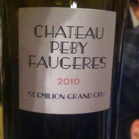 Château Péby Faugères Saint-Émilion Red Bordeaux Blend 2010