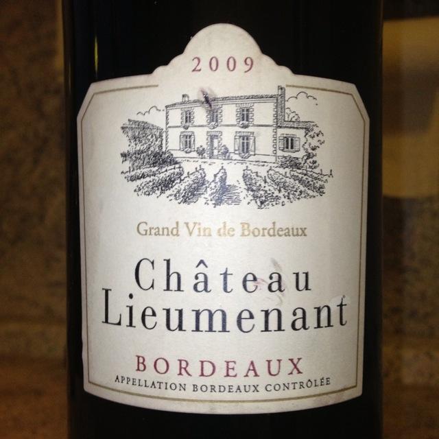 Château Lieumenant Bordeaux Supérieur 2015