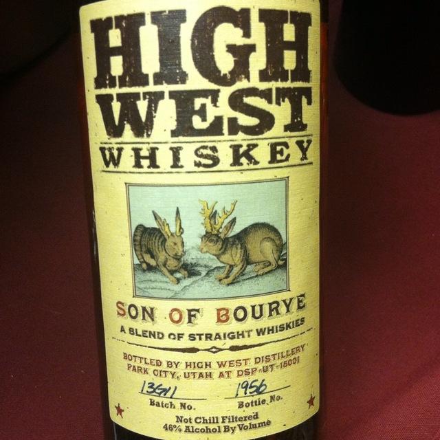 High West Distillery Bourye Blended Straight Rye & Bourbon Whiskey NV