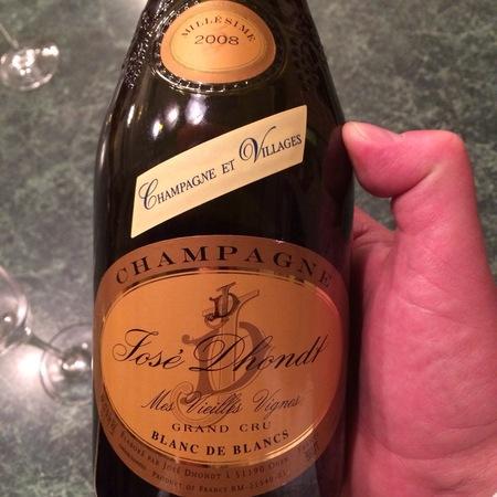 Josè Dhondt Mes Vieilles Vignes Brut Blanc de Blancs Grand Cru Champagne Chardonnay 2008