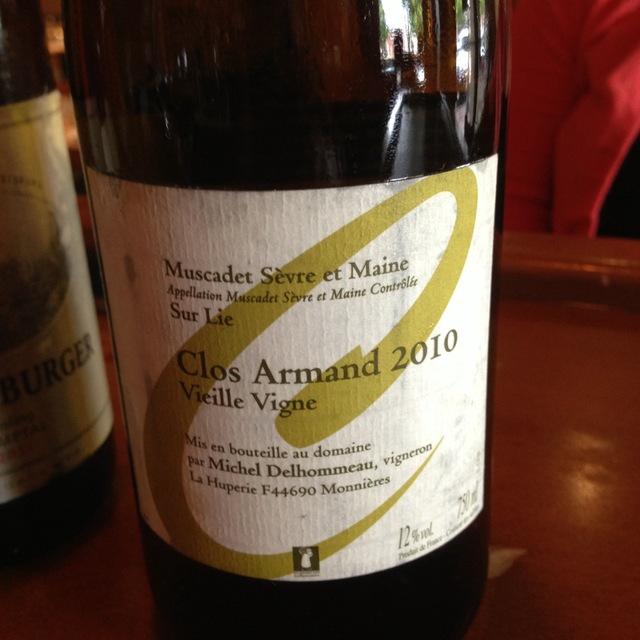 Michel Delhommeau Clos Armand Vieille Vigne Muscadet de Sèvre-et-Maine Melon de Bourgogne 2015