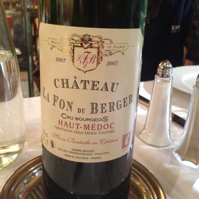 Château la Fon du Berger Haut-Médoc Red Bordeaux Blend  2014