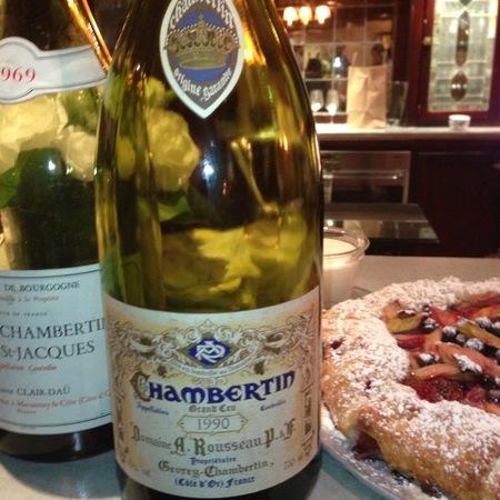 Domaine Armand Rousseau  Chambertin Grand Cru Pinot Noir 1990