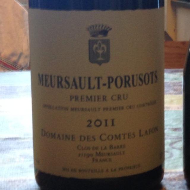 Meursault-Porusots 1er Cru Chardonnay 2013