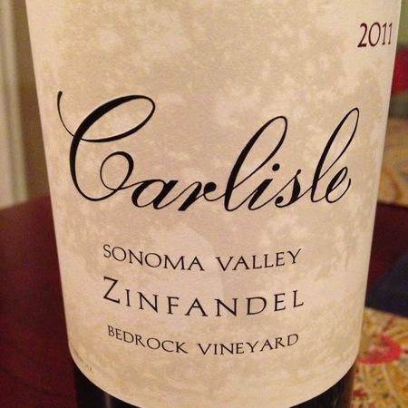 Carlisle Winery & Vineyards Bedrock Vineyard Zinfandel 2014