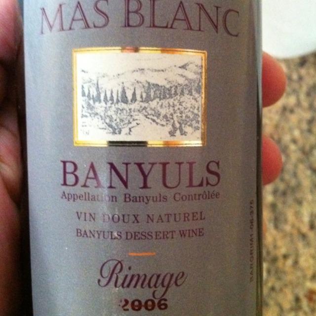 Domaine du Mas Blanc (Docteur Parcé) Banyuls Rimage  2008 (375ml)