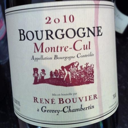 René Bouvier Montre-Cul Bourgogne Pinot Noir 2014