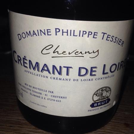 Domaine Philippe Tessier Brut Cheverny Crémant de Loire Chardonnay Orbois 2015