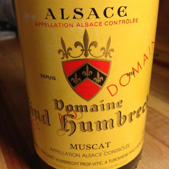 Domaine Zind Humbrecht Alsace Muscat 2013