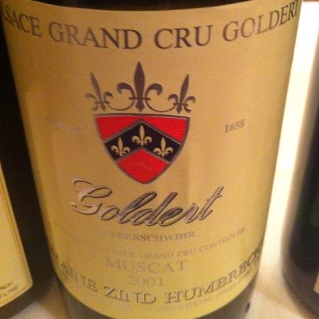 Domaine Zind Humbrecht Goldert (Gueberschwihr) Grand Cru Muscat 2001