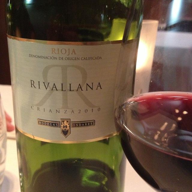 Bodegas Ondarre Rivallana Crianza Rioja Tempranillo 2013