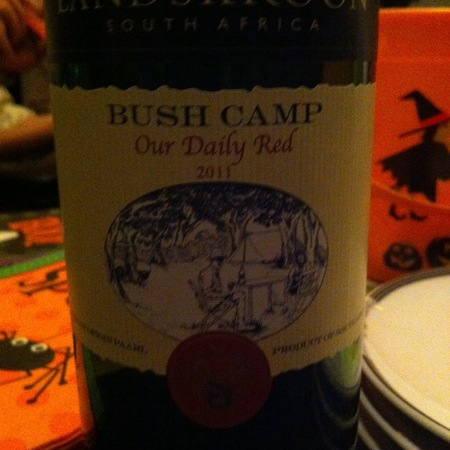 Landskroon Wines (The Wines of Paul and Hugo De Villiers) Bush Camp Our Daily Red Cinsault Blend NV