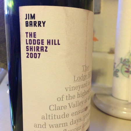 Jim Barry The Lodge Hill Shiraz 2007