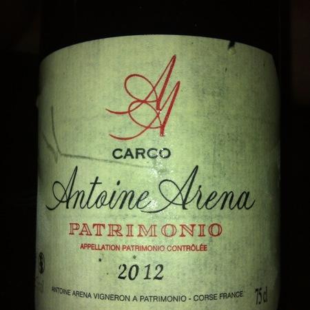 Antoine Arena Carco Patrimonio Nielluccio 2012
