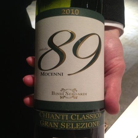 Bindi Sergardi 89 Mocenni  Gran Selezione Chianti Classico Sangiovese 2006