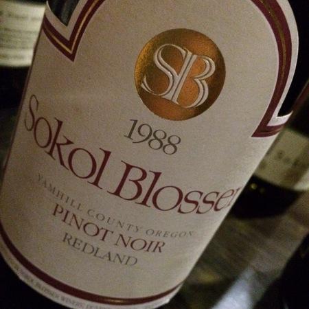 Sokol Blosser Redland Pinot Noir 1988