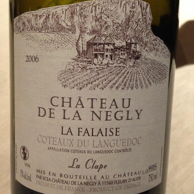 Château de la Négly La Falaise Coteaux du Languedoc La Clape Red Blend 2014