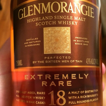 Glenmorangie 18 Year Old  Extremely Rare Single Malt Scotch Whisky NV