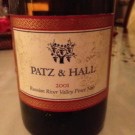 Patz & Hall Russian River Valley Pinot Noir 2001