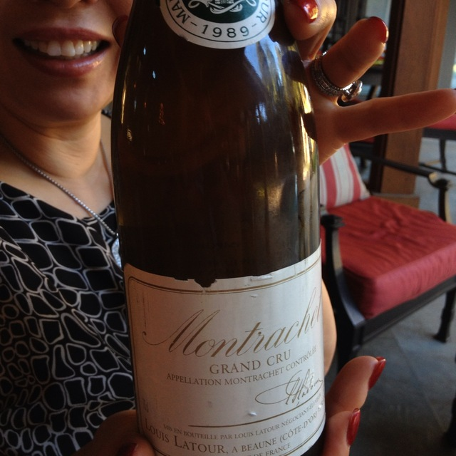 Louis Latour Montrachet Grand Cru Chardonnay 1989