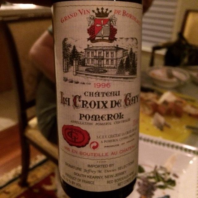 Pomerol Red Bordeaux Blend 1996