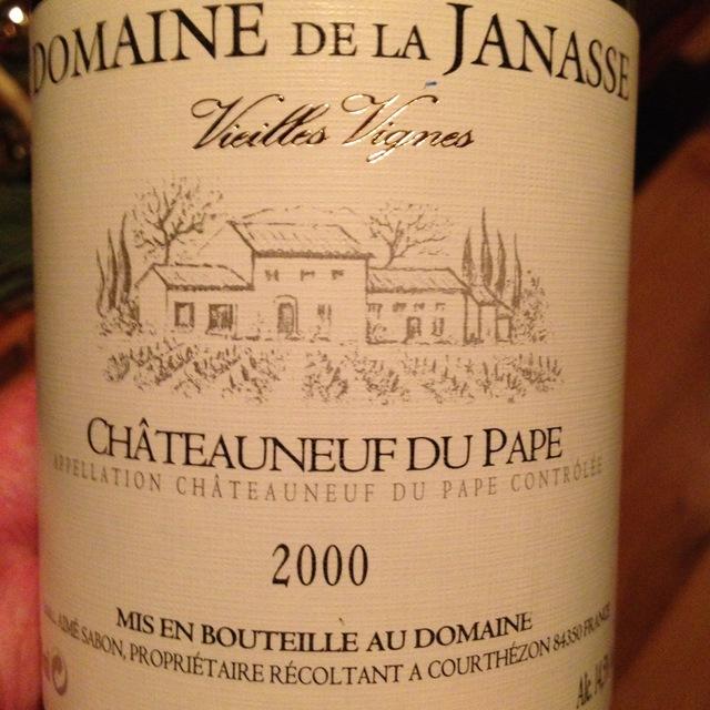 Vieilles Vignes Châteauneuf-du-Pape Red Rhone Blend 2000