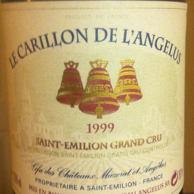 Le Carillon De L'Angélus St. Émilion Red Bordeaux Blend 1999