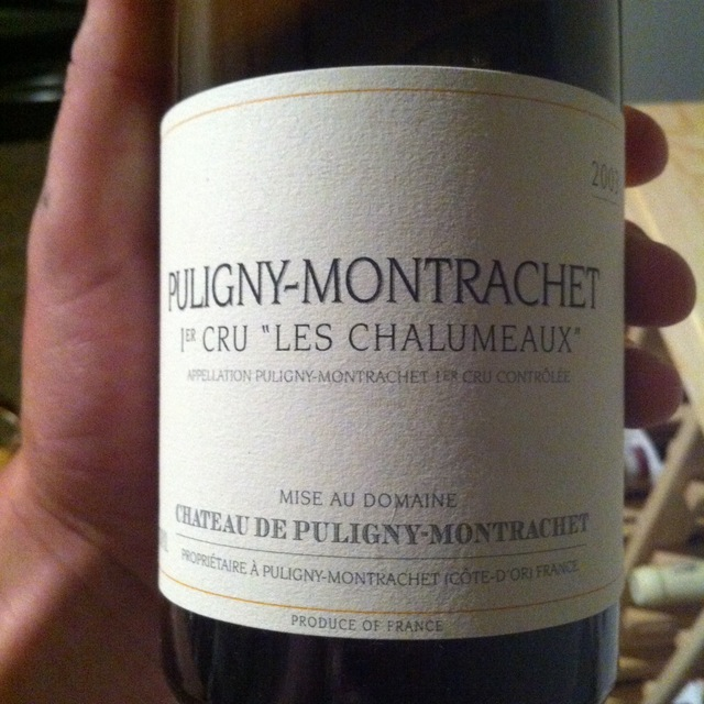 Château de Puligny-Montrachet Les Chalumeaux Puligny-Montrachet 1er Cru Chardonnay 2012