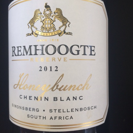 Remhoogte Honeybunch Reserve Chenin Blanc 2012