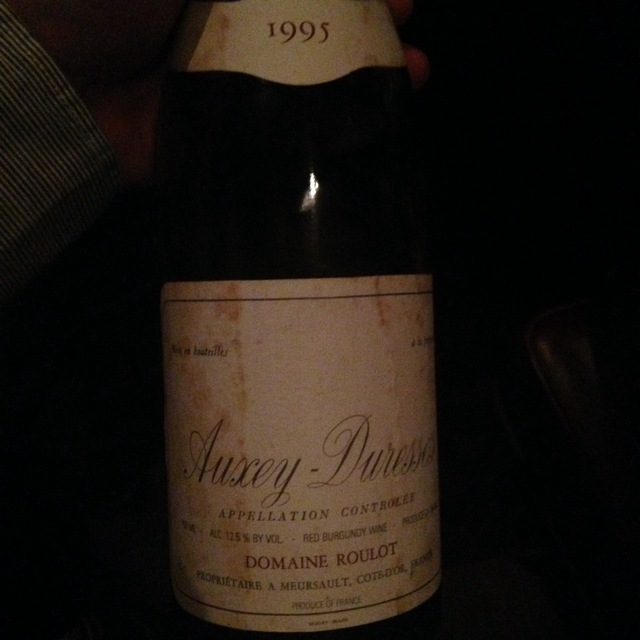 Auxey-Duresses  Pinot Noir 2012