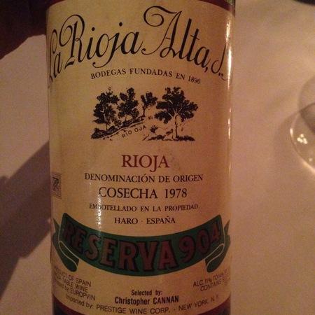 La Rioja Alta Gran Reserva 904 Rioja Tempranillo Graciano 2007