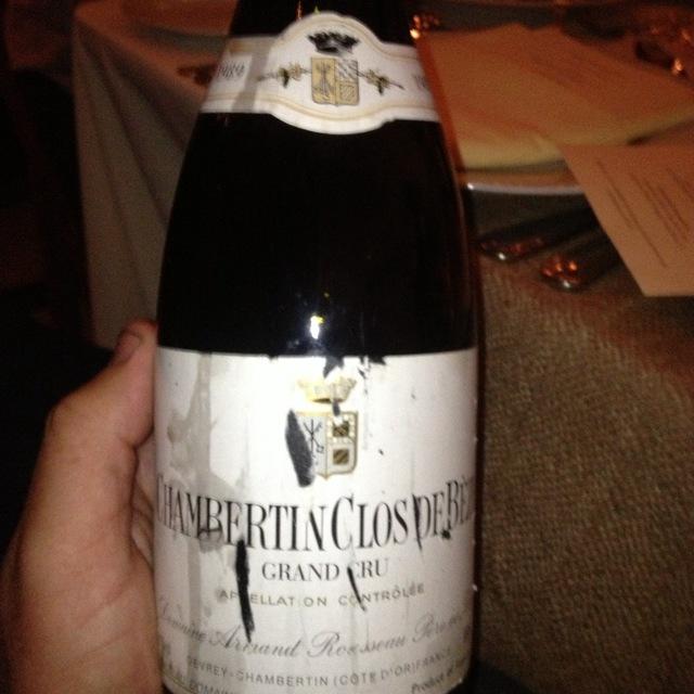 Chambertin Clos de Bèze Grand Cru Pinot Noir 1989