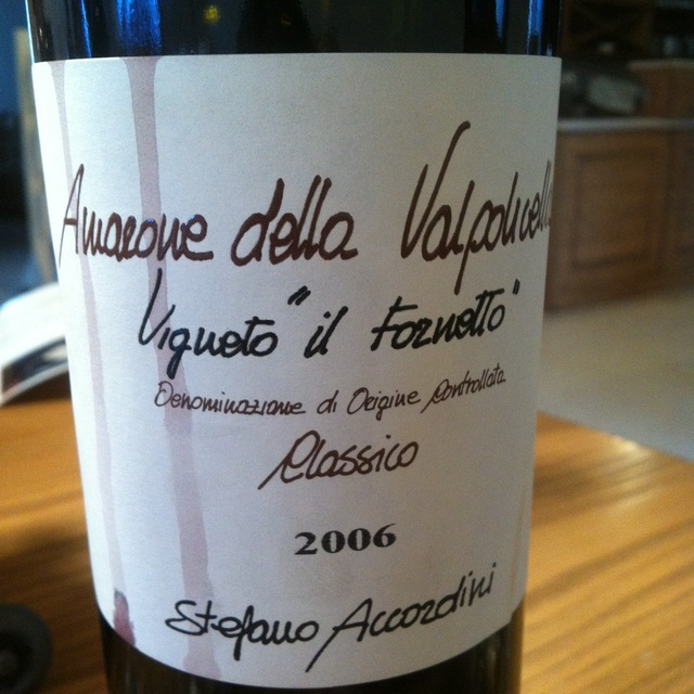 """Stefano Accordini Vigneto """"Il Fornetto"""" Amarone della Valpolicella Classico Corvina Blend 2006"""