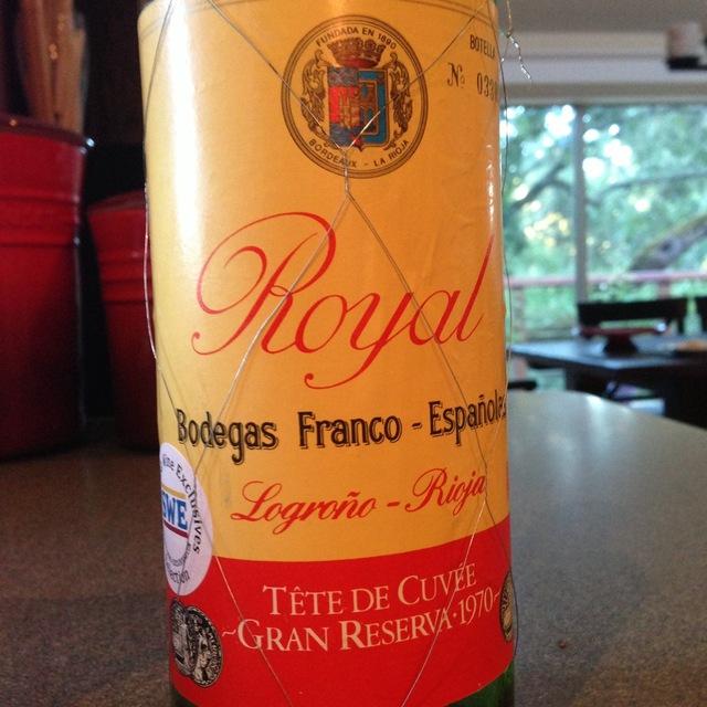 Royal Tête de Cuvée Gran Reserva Rioja Tempranillo Blend 1970