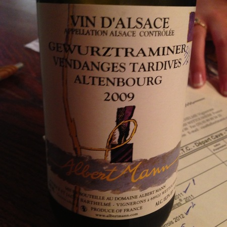 Albert Mann Altenbourg Vendanges Tardives Gewürztraminer 2009 (500ml)
