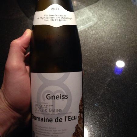 Domaine de l'Ecu (Guy Bossard) Gneiss Muscadet Sèvre-et-Maine Melon de Bourgogne 2015