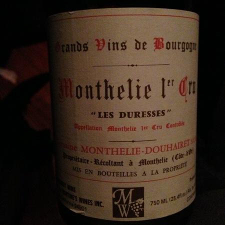 Domaine Monthelie-Douhairet Les Duresses Monthélie 1er Cru Pinot Noir 1998