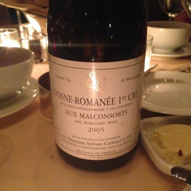 Sylvain Cathiard Aux Malconsorts Vosne-Romanée 1er Cru Pinot Noir 2005