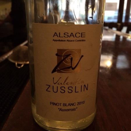 Domaine Valentin Zusslin Auxerrois Pinot Blanc 2015