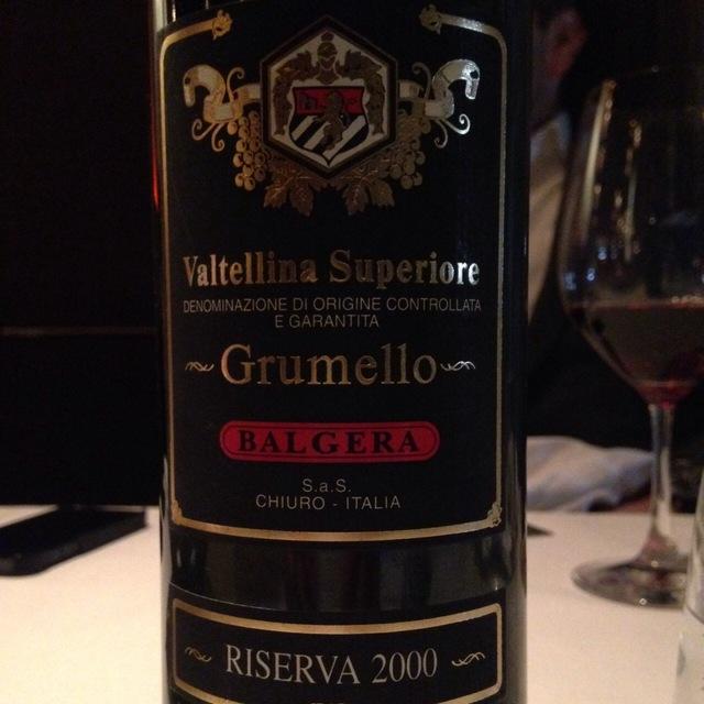 Riserva Grumello Valtellina Superiore Nebbiolo 2000