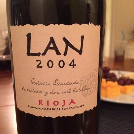 Bodegas LAN Lan Edición Limitada Rioja Tempranillo 2004