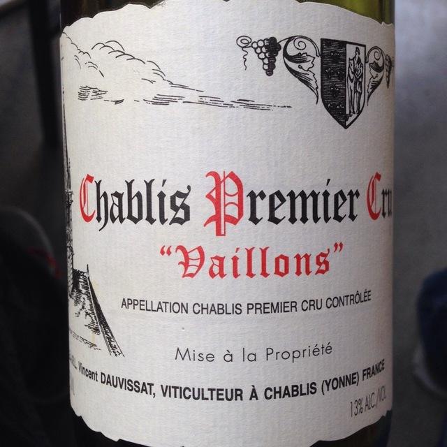 """""""Vaillons"""" Chablis 1er Cru Chardonnay 2014"""