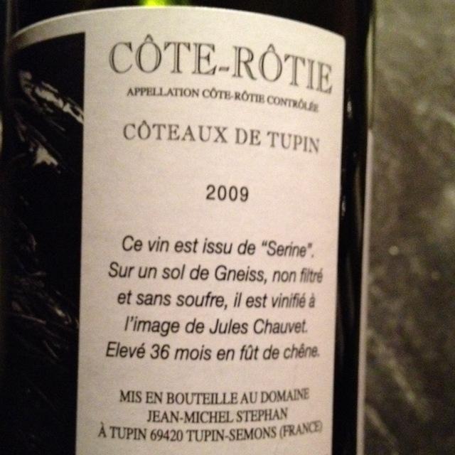 Côteaux de Tupin Côte-Rôtie Syrah 2013 (1500ml)
