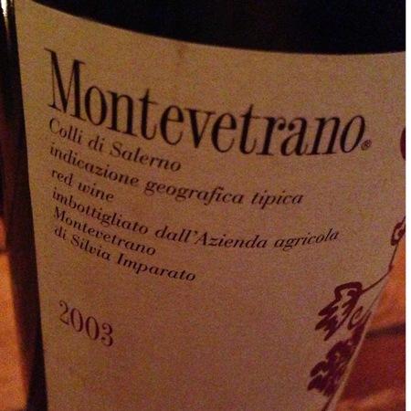 Azienda Agricola Montevetrano Colli di Salerno Cabernet Sauvignon Blend 2003