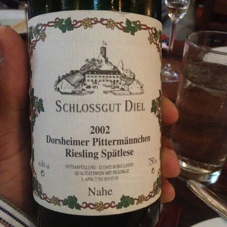 Schlossgut Diel Dorsheimer Pittermännchen Spätlese Riesling 2002