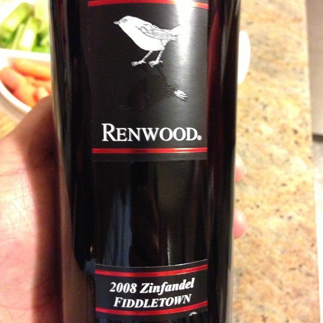 Renwood Winery Fiddletown Zinfandel 1994