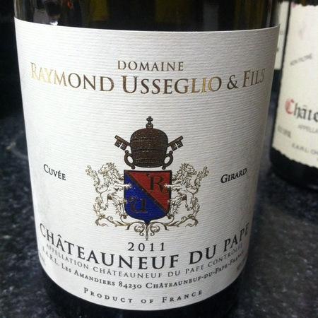 Domaine Raymond Usseglio & Fils Cuvée Girard Châteauneuf-du-Pape Red Rhône Blend 2014