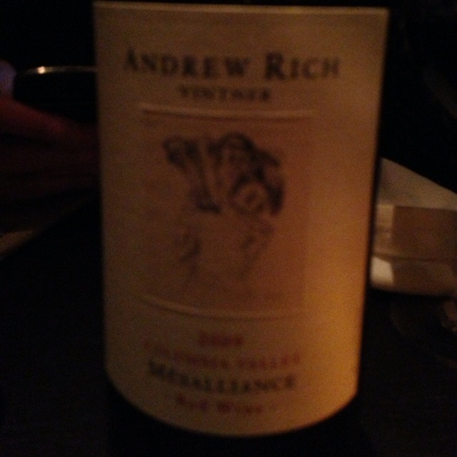 Andrew Rich Mesalliance Columbia Valley Merlot Blend 2012