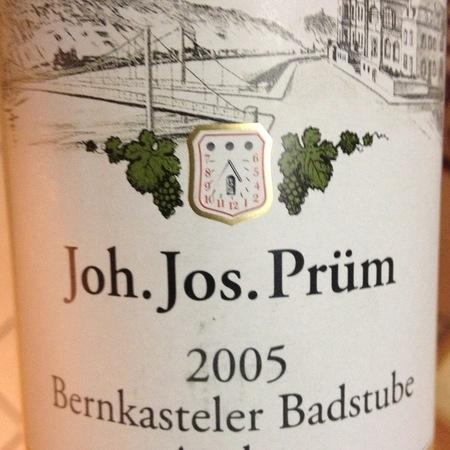 Joh. Jos. Prüm Bernkasteler Badstube Auslese Riesling 2005